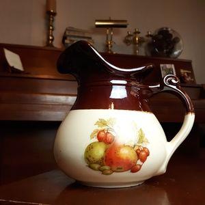 Vintage McCOY glazed ceramic pitcher